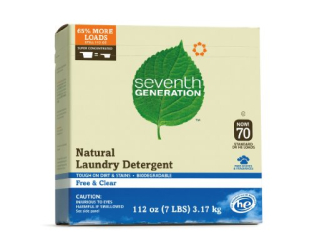 : Seventh Generation Powder Laundry Concentrated, Free and Clear, 112-Ounce