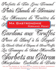 fernand point: ma gastronomie