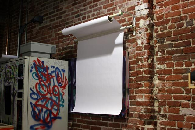 Wall Mounted Paper Roller projects: wall mounted rolling sketchpad