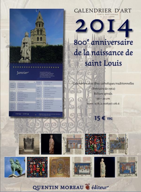 Saint Louis Calendrier.Le Calendrier Du Huitieme Centenaire De La Naissance Du Roi
