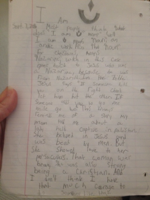 "Cole explains in a letter what ""I Am N"" means to him."