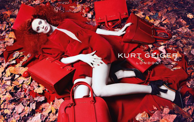 CAMPAIGN Karen Elson for Kurt Geiger Fall 2014 by Erik Torstensson. www.imageamplified.com, Image Amplified
