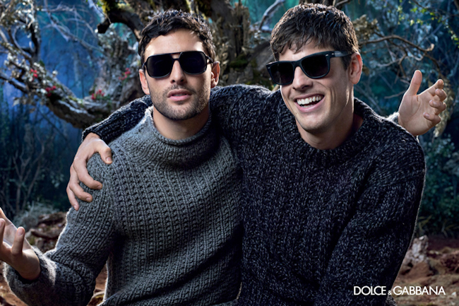 CAMPAIGN Noah Mills, Evandro Soldati & Bianca Balti for Dolce & Gabbana Eyewear Fall 2014 by Domenico Dolce. www.imageamplified.com, Image Amplified