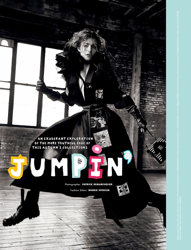 LOVE MAGAZINE Jumpin by Patrick Demarchelier. Katie Grand, Fall 2014, www.imageamplified.com, Image Amplified