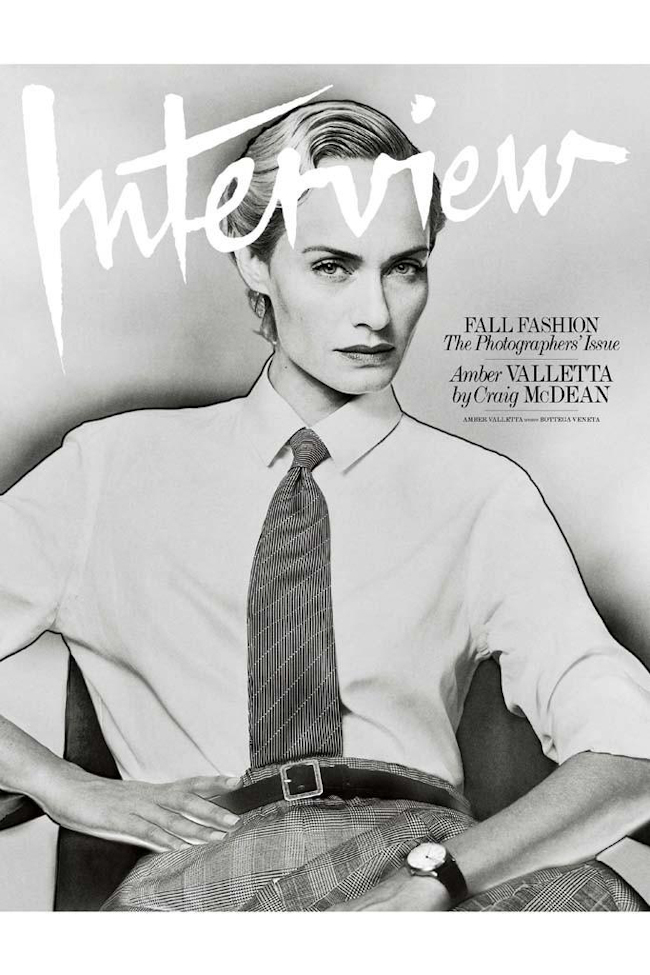 INTERVIEW MAGAZINE Amber Valletta by Craig McDean. Karl Templer, September 2014, www.imageamplified.com, Image Amplified