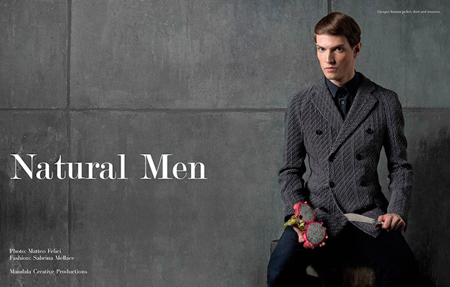 BOOK MODA Natural Men by Matteo Felici. Sabrina Mellace, Fall 2014, www.imageamplified.com, Image Amplified