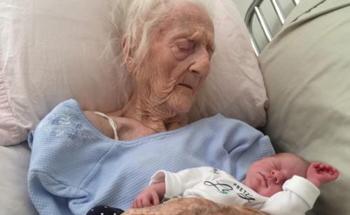 101 Grandmother, newborn