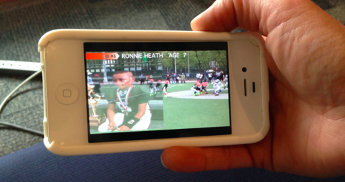 Watching on a mobile