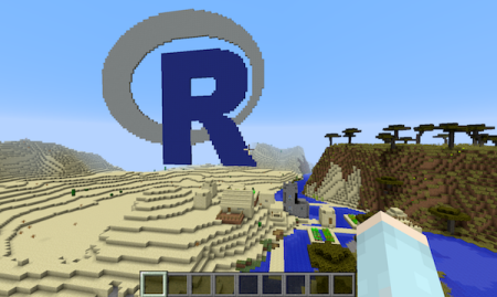 teach kids about r with minecraft revolutions