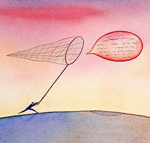 Balloon and net