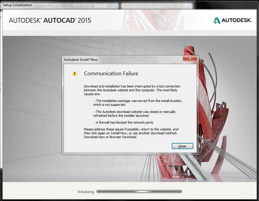 Tip: C:\Autodesk folder and Install Now option + Communication