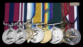 Hugh Vernon Spence WW1 medals from DNW auction site