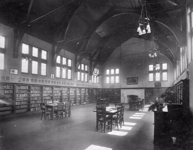 Wychwood Branch main floor adult area circa 1916