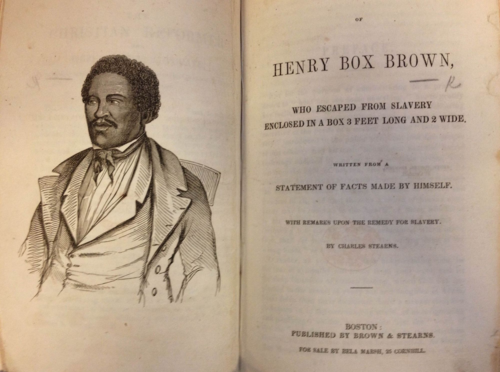 Narrative of Henry Box Brown (Front)