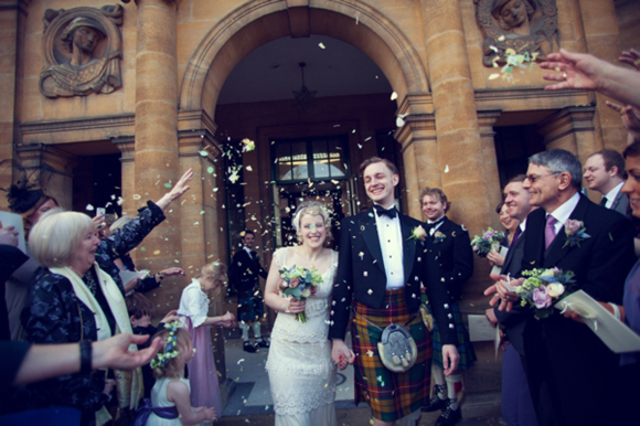 A 1920s and 1930s inspired wedding at Eltham Palace, Bride wearing Kristene by Claire Pettibone...