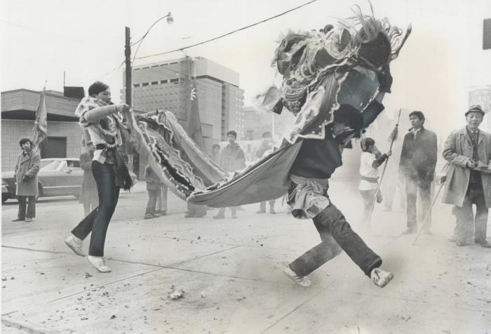 TorStar Chinese New Year - lion dance 1971