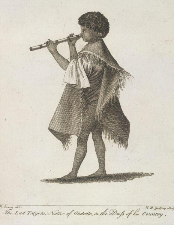 'The Lad Taiyota, native of Otaheite, in the dress of his country'