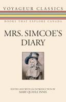 Mrs. Simcoe's Diary by Elizabeth Simcoe