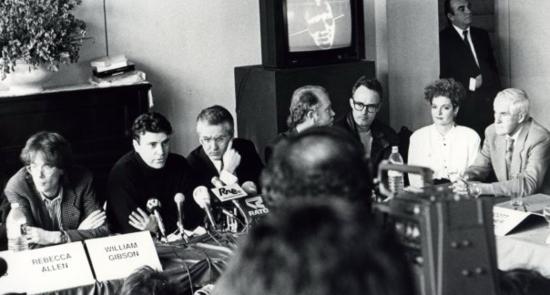 ArtFutura 1990 con Timothy Leary y Rebecca Allen