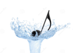 Musical-note-water-splash-floating-jet-isolated-white-background-37548430