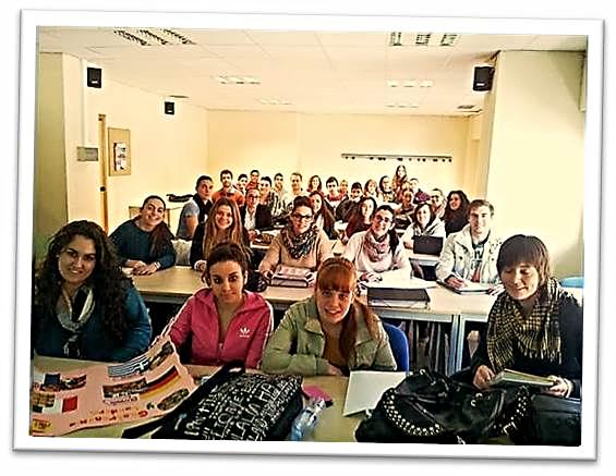 Alumnos y Alumnas de primer curso del Grupo 3 del Grado de Educación Primaria de la Universidad de Murcia