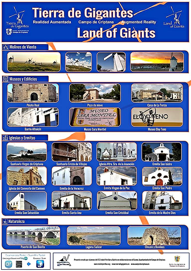 Poster de Realidad Aumentada, que permite el acceso a la información, vía web, así como ofrecer datos de ubicación mediante geolocalización