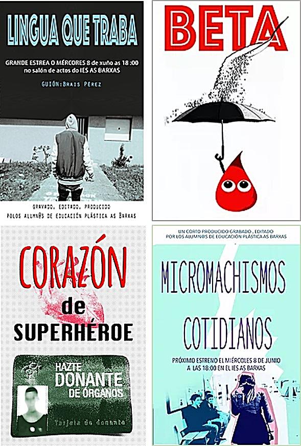 Carteles de 'cortos'. Proyecto pedagógico 'Superhéroes y Superheroínas' | Luz Beloso