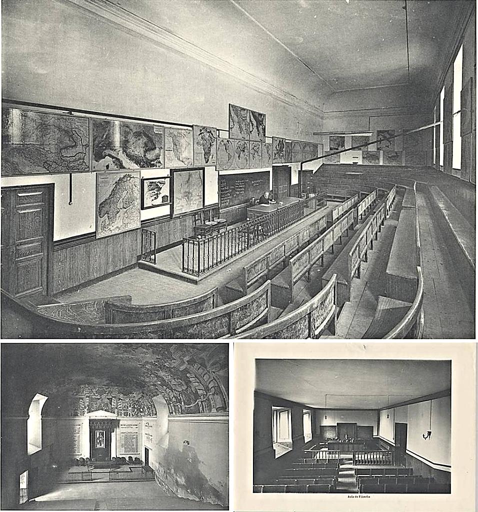 Ilustraciones de las aulas de instalaciones del antiguo Colegio Imperial y de los Reales Estudios de San Isidro