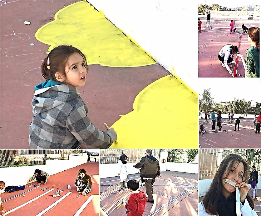 Un lunes 26 de enero a las cuatro de la tarde se reunieron en el patio, familias, profesorado y niñas y niños y se pusieron a la tarea de hacer realidad su sueño.