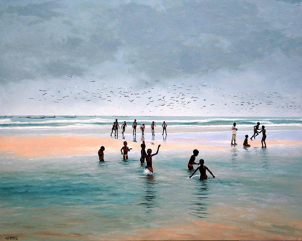 Los niños de la Costa Grande-Senegal, de José Carlos Ortíz  (Academia Europea de las Artes–Francia)