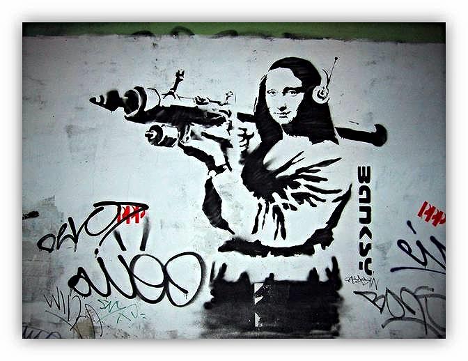 Apropiación de la Gioconda. Banksy