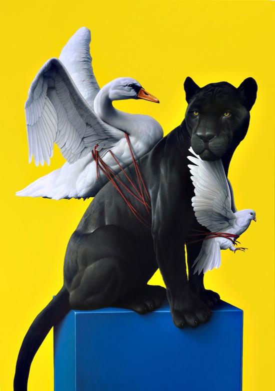 Thvndergallery-Exposición-de-las-pinturas-hiperrealistas-de-Eckart-Hahn