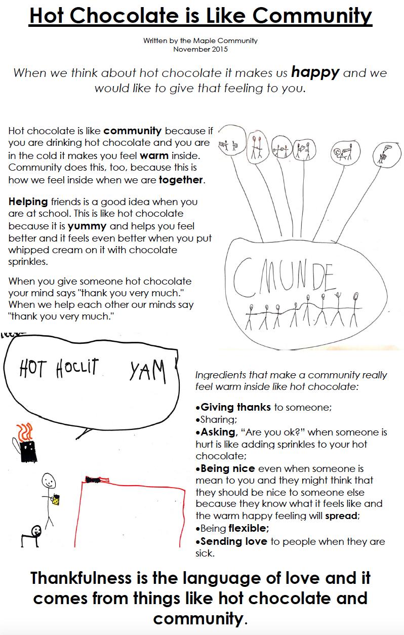 Hot Chocolate is Like Community - Maple - 2015