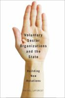 Voluntary Sector Organizations and the State
