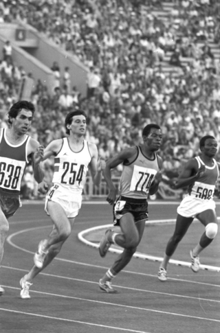 Silver medalist of the 1980 Olympics in 800m running Sebastian Coe