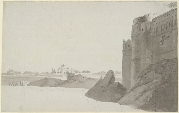 BL WD196 Allahabad fort and mosque Thomas Daniell