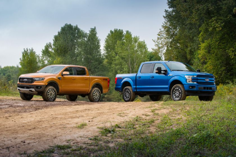 Ford Ranger and F-150 with 2-inch suspension lift kit