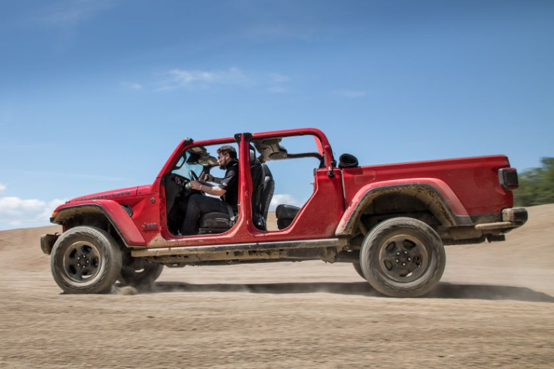 2020 Jeep Gladiator Rubicon Without Doors, Roof In Sand