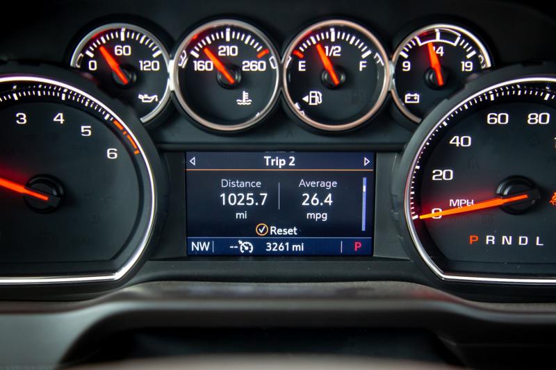 2020 Chevrolet Silverado 1500 Diesel Fuel Economy Trip Computer Readout