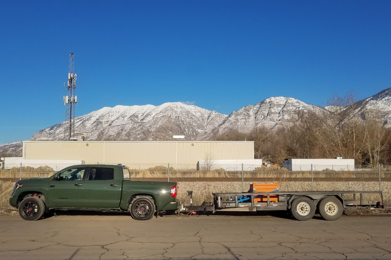 2020 Toyota Tundra TRD Pro Towing Trailer