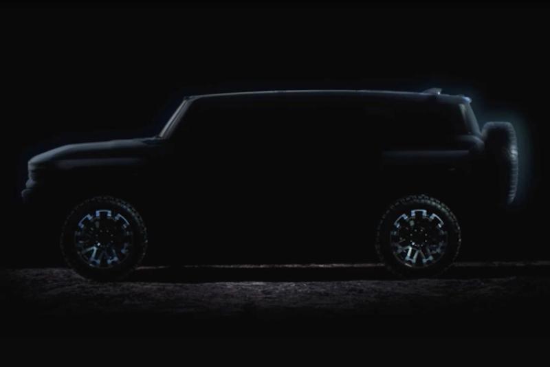 GMC Hummer EV SUV Silhouette
