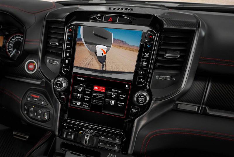 2021 Ram 1500 TRX Digital Review Camera Mirror Display