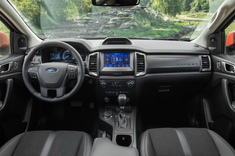 2021 Ford Ranger Tremor Lariat interior