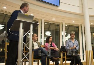 Our panel: Stephen Holgate, Robin Williams, Sally Robinson and Robin Lovell-Badge.