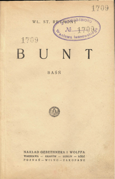 Title-page of the first edition of 'Bunt'