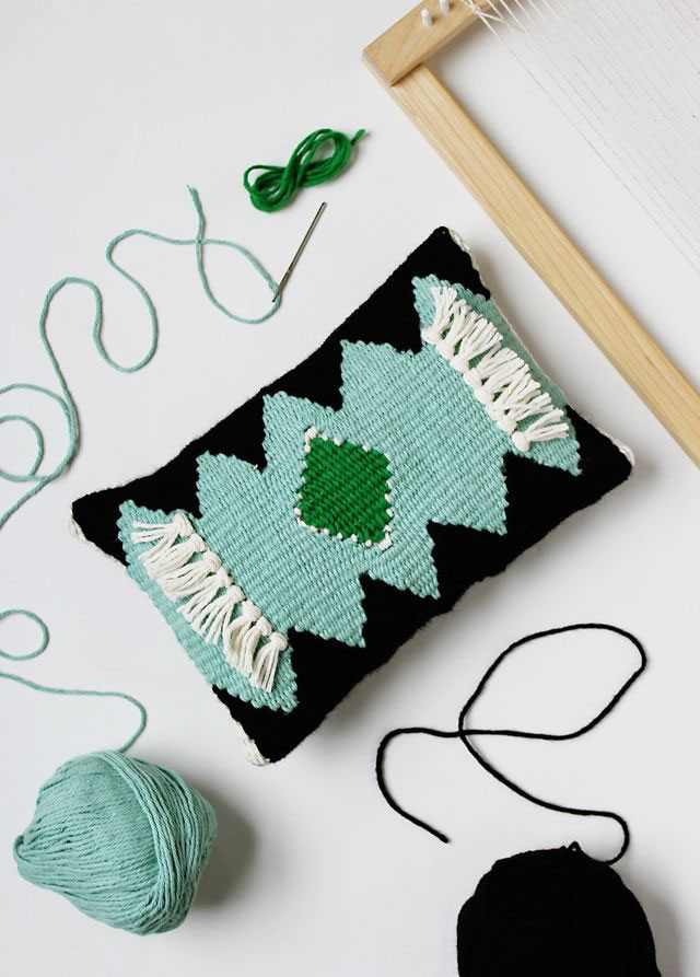 Woven Pillow DIY by A Beautiful Mess