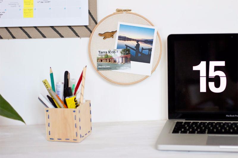 DIY Polaroid Display Memory Hoop via Look What I Made