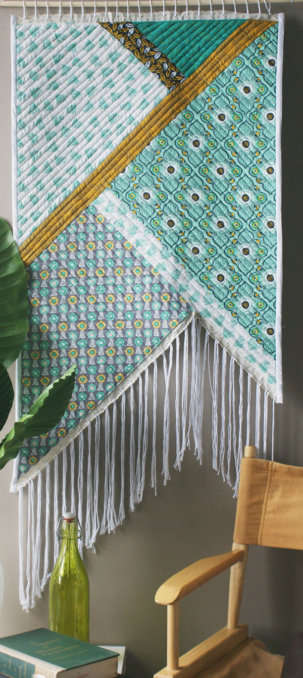 Fringed Wall Quilt by the Design Studio Blog
