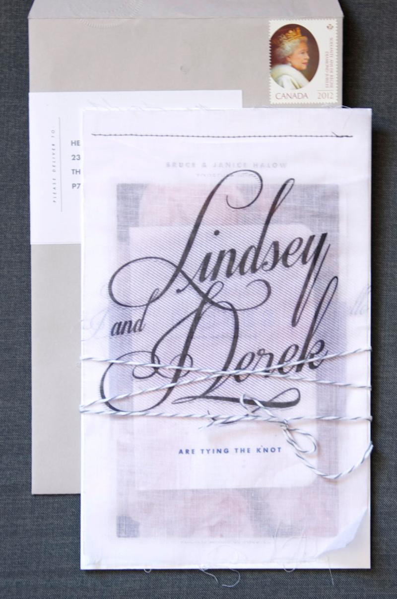 Fabric overlay invitations