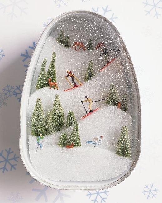 Ski diorama